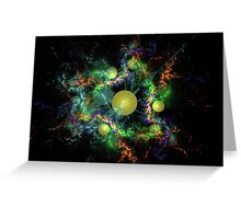 Colorful Universe Greeting Card