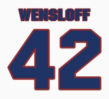 National baseball player Butch Wensloff jersey 42 by imsport