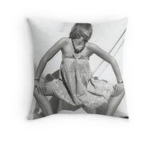 Rusty Girl Throw Pillow