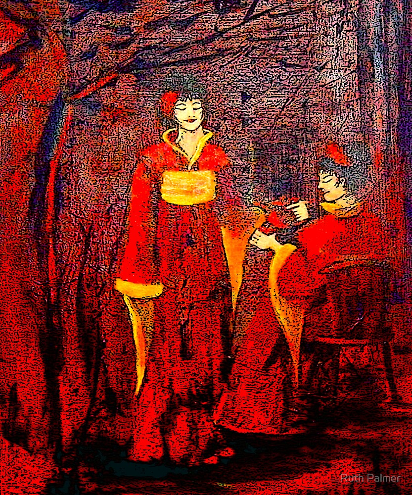 Ladies In The Tea Garden by Ruth Palmer
