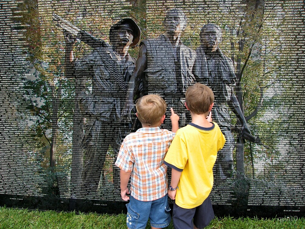 Spence and Liam at the Vietnam Wall by quin10