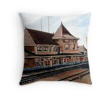 Saskatoon Train Station Throw Pillow