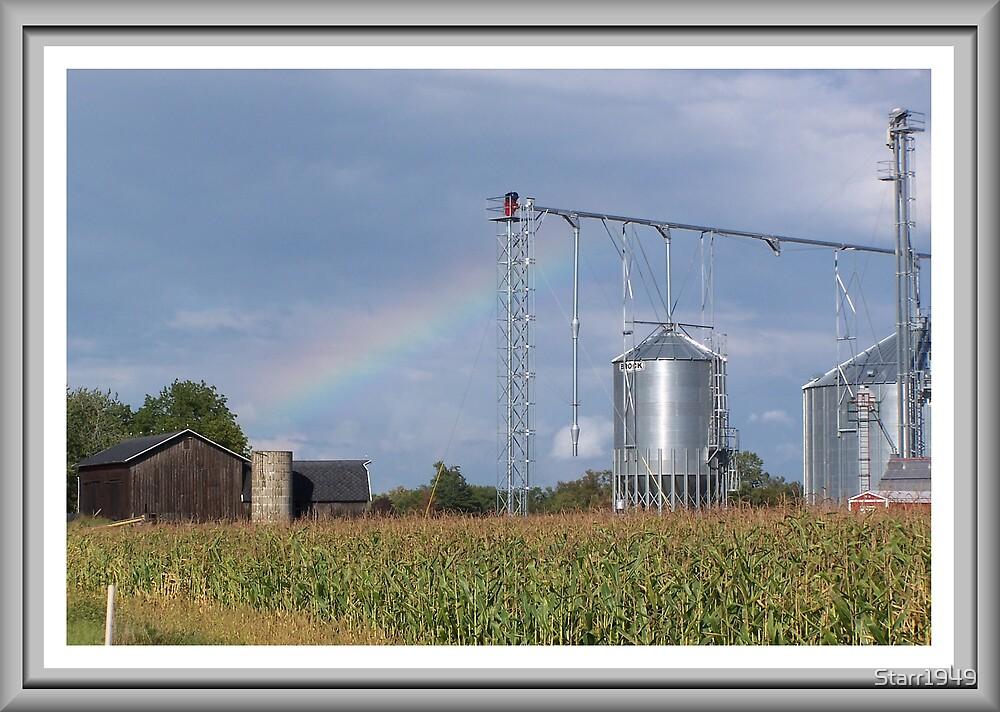 Rainbow O`er the Farmland by Starr1949