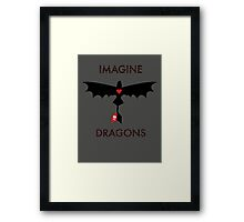 Imagine Toothless Framed Print