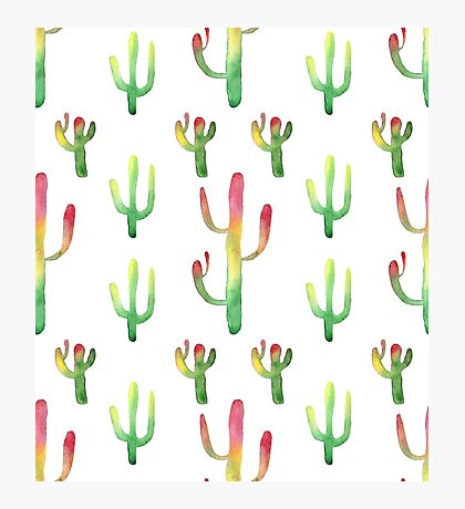 Watercolor cactuses Photographic Print