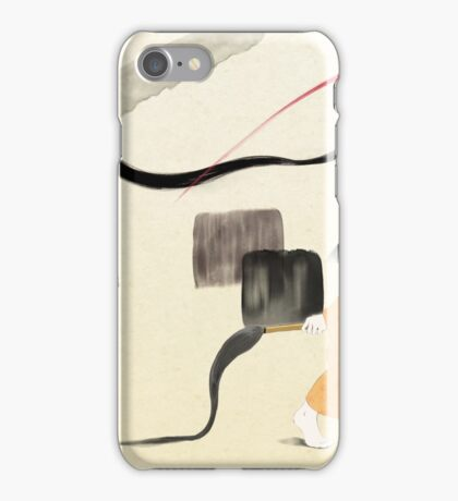 Abstract Brush Strokes iPhone Case/Skin