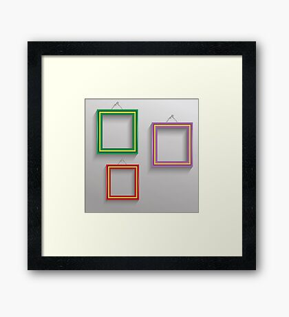photo frames Framed Print