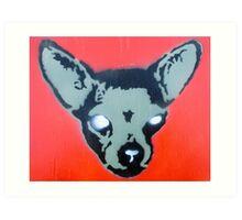 Zombie Chihuahua Art Print