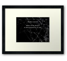 Murphy's Law - Constant Framed Print