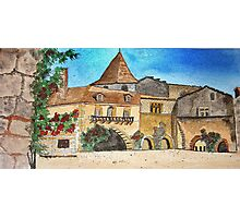 Watercolour.                            Paysages de Dordogne  France  Photographic Print