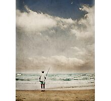 Fishing alone Photographic Print