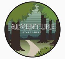 Adventure Starts Here Baby Tee