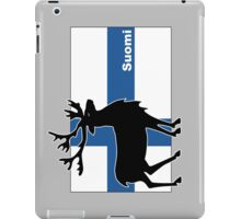Suomi: Finnish Flag and Reindeer iPad Case/Skin