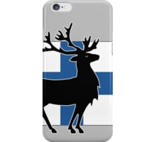 Suomi: Finnish Flag and Reindeer iPhone Case/Skin