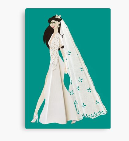 here comes the beautiful bride Canvas Print