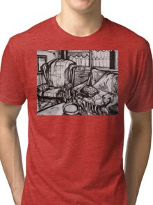Still Life with Empty Ash Tray, 2012 Tri-blend T-Shirt