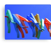 Primary Pegs Canvas Print