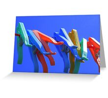 Primary Pegs Greeting Card