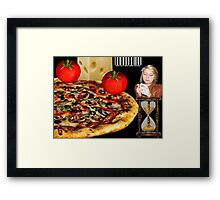 ☝ ☞ WE ARE BEING TRACKED..COULD THIS BE THE FUTURE - ORDERING PIZZA?.. TECHNOLOGY- AND THEY CALL IT PROGRESS ..U -B-THE JUDGE..SEE VIDEO HUGS..☝ ☞ Framed Print