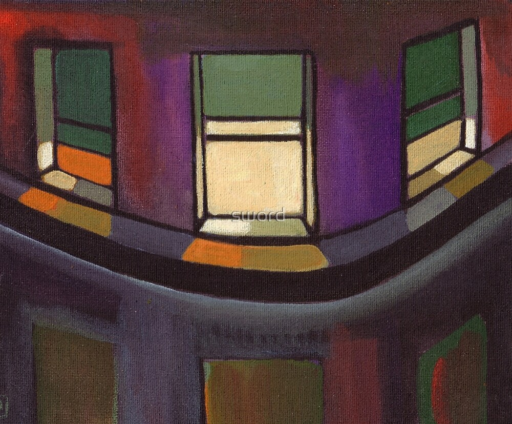 Night windows (from my original painting) by sword