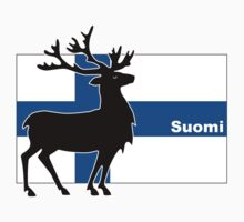 Suomi: Finnish Flag and Reindeer Kids Clothes