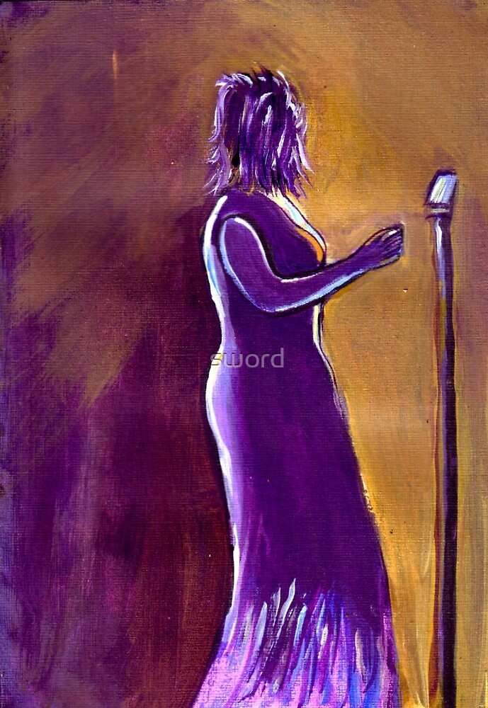 The jazz singer (from my original painting) by sword