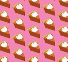 Pumpkin Pie Pattern Pink by HolidaySwaggT