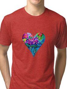 Red Floral Heart Designer Art Gifts Tri-blend T-Shirt