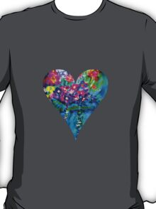 Red Floral Heart Designer Art Gifts T-Shirt