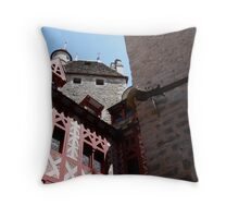COURTYARD A FRENCH CHATEAU Throw Pillow
