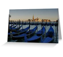 TAXIS OF VENICE Greeting Card