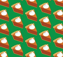 Pumpkin Pie Pattern Green by HolidaySwaggT
