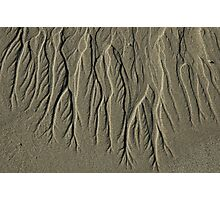 Patterns in the Sand Photographic Print