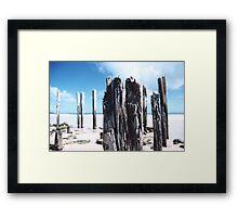 Port Willunga Jetty Posts Framed Print