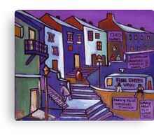 Seaside village (from my original painting) Canvas Print