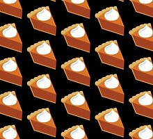 Pumpkin Pie Pattern Black by HolidaySwaggT
