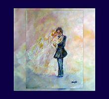 Wedding Dance Art Designed Decor & Gifts - Navy Blue by innocentorigina