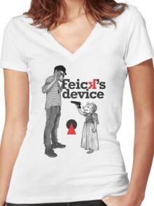 Tiny swine Women's Fitted V-Neck T-Shirt