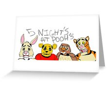 Five Nights at Pooh Bears Greeting Card