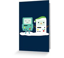 Building SnowMO (Green) Greeting Card