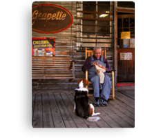feed the dog Canvas Print