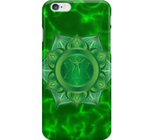Heart Chakra with green flare BG iPhone Case/Skin