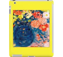 Romance Flowers in Blue Vase Artist Decor & Gifts iPad Case/Skin