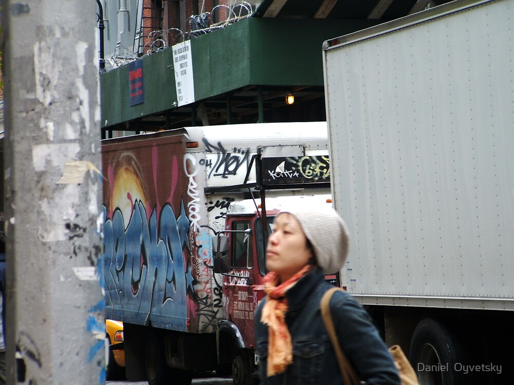 Scenic Life in New York expressed with Graffiti by Daniel  Oyvetsky