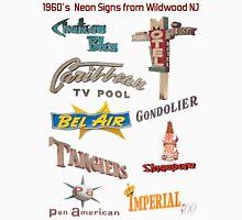 Retro Neon Motel Signs of Wildwood New Jersey 1960's Doo Wop Neon  T-Shirt