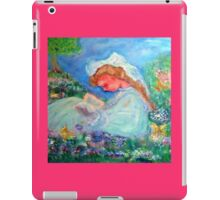 Little Girl Reading in the Garden Decor & Gifts Pink iPad Case/Skin
