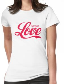 Spread Love Womens Fitted T-Shirt