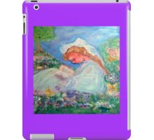 Little Girl Reading in the Garden Decor & Gifts - Purple iPad Case/Skin