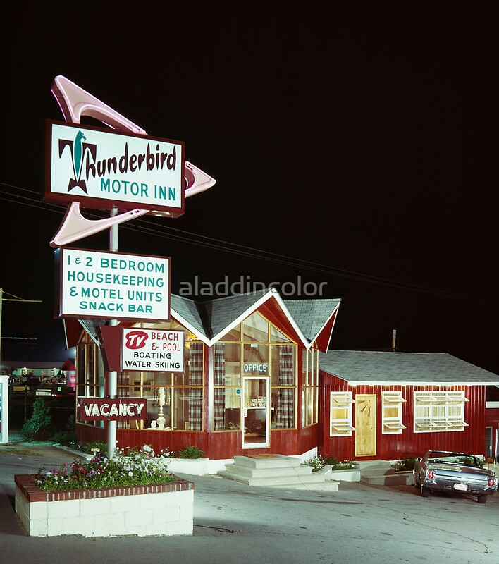 Thunderbird motor inn lake george ny 1960 39 s by for Long lake motor inn