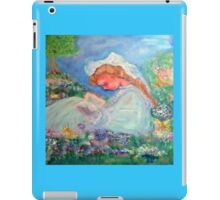 Little Girl Reading in the Garden by Marie -Jose Pappas iPad Case/Skin